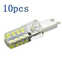 TYs 10Pcs G9 4W 32 LED Bulb 360LM 2800-6500K 2835 SMD Chandelier Crystal Lamp Home Lighting AC 220V-240V , cool white