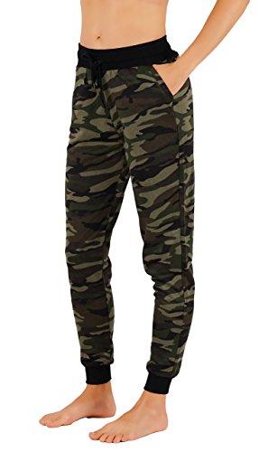 Vibrant Vixen Women's Jersey Pocket Pants Camo Jogger (L, VJ6/9-60GRY)