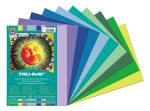 Pacon 2942R Tru-Ray Cool Assortment44; 9 X 12 In.