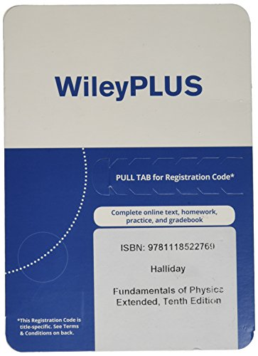 Wileyplus Stand Alone To Fundamentals Of Physics Extended  10Th Ed  Registration Code
