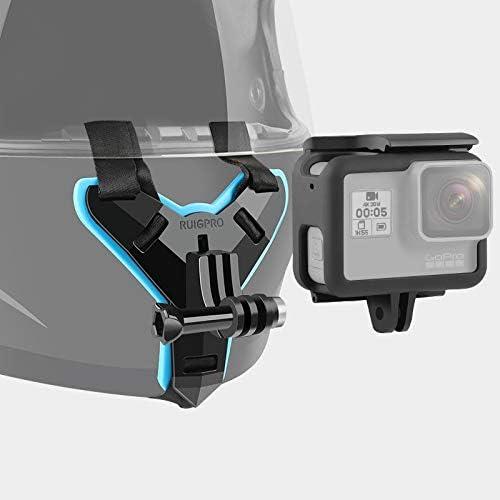 Border Frame Mount Protective Cage for GoPro HERO7 Black //6//5 Durable JINGZ Helmet Belt Mount
