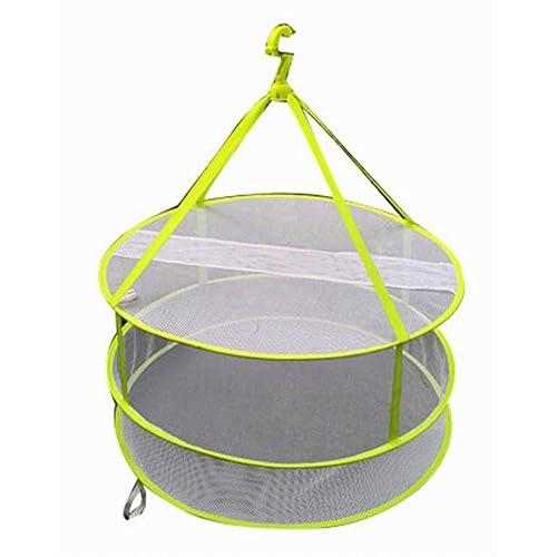 2 Tier Vêtements ménagers Sweater Etendoir / Net Hanging Séchage Basket, 24,4 ''