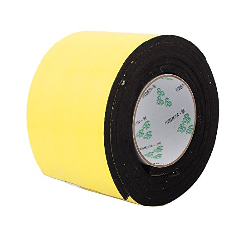 uxcell 100mm x 6mm Single Sided Self Adhesive Shockproof Sponge Foam Tape 2M Length (Sided Foam Single)