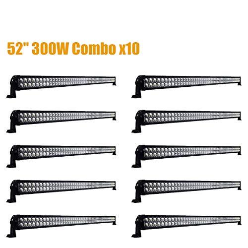 "Eyourlife 300W 52"" 8PCS LED Light Bar Fog Lamp Offroad Light"