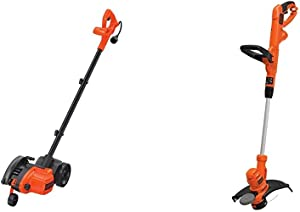 BLACK+DECKER Edger and Trencher, 7.5-in, 12 Amp (LE750) & String Trimmer with Auto Feed, Electric, 6.5-Amp, 14-Inch (BESTA510)