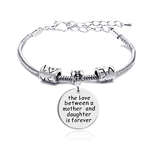 lauhonmin Mother Daughter Mother Son Grandmother Grandson Granddaughter Charm Bracelets Mom Gifts Mother's Day (Mother and -