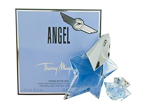 Angel By Thierry Mugler For Women. Eau De Parfum Spray .8 oz & Eau De Parfum .17 oz Mini (travel Offer) ()
