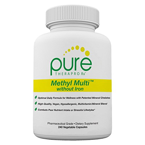(Methyl Multi Without Iron - 240 Vegetable Capsules | This Vegan Formula Features Activated Vitamin Cofactors and Folate as Quatrefolic® (5-MTHF) | Patented Albion TRAACS Chelated Mineral Complexes)