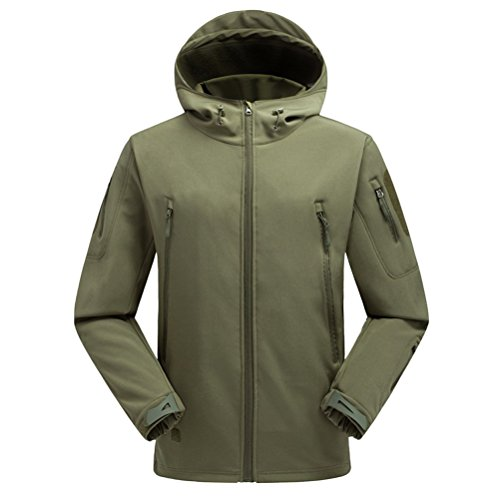 Men's Waterproof Sunscreen Bello Armygreen Shark Zhuhaitf Jacket Outdoor Skin Hooded 57fAxnPq