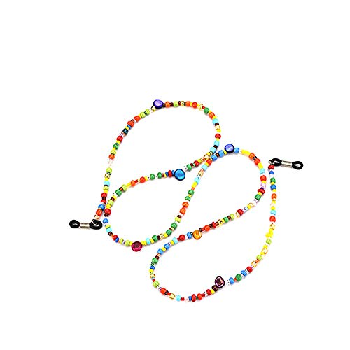 Eyeglass Chains Colorful Beaded Glasses Cords Sunglasses Holder Strap Lanyards Eyewear Retainer 1pc