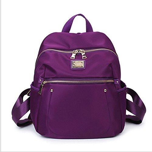 Para Bolsa Mochila Sra Hombro De Bolsas Purple Fhrr Ocio Señoras Paquete Estudiante Cosméticos Ligero Bolso Nylon Mujer XFOzqwTvz