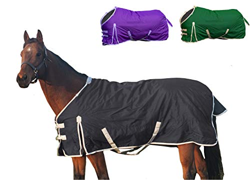 Derby Originals Deluxe Series 600D Ripstop Waterproof Medium Weight Winter Turnout Horse Blanket (Medium Weight Turnout)