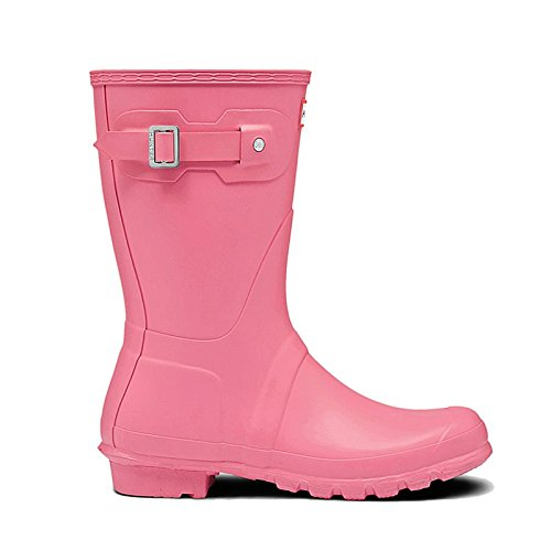 Hunter Womens Original Short Pink Rain Boot - 8 B(M) US (Pink Hunter Rain Boots)