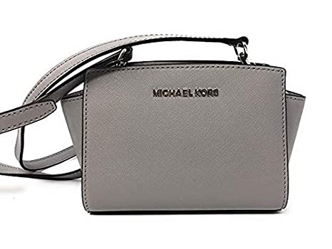 d85a3b270288 Amazon.com  Michael Kors Selma Mini Saffiano Leather Crossbody Bag ...