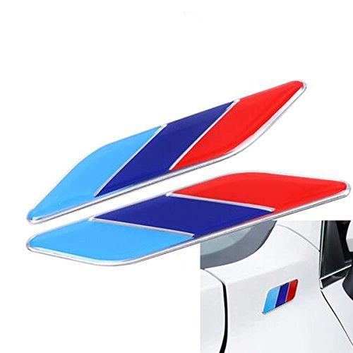 Dsycar 2Pcs/Pair 3D Metal Tricolor Flag Emblem Badge for ALL Models BMW E30 E36 E46 E34 E39 E60 E65 E38 X3 X5 X6 3 4 5 6 7 8