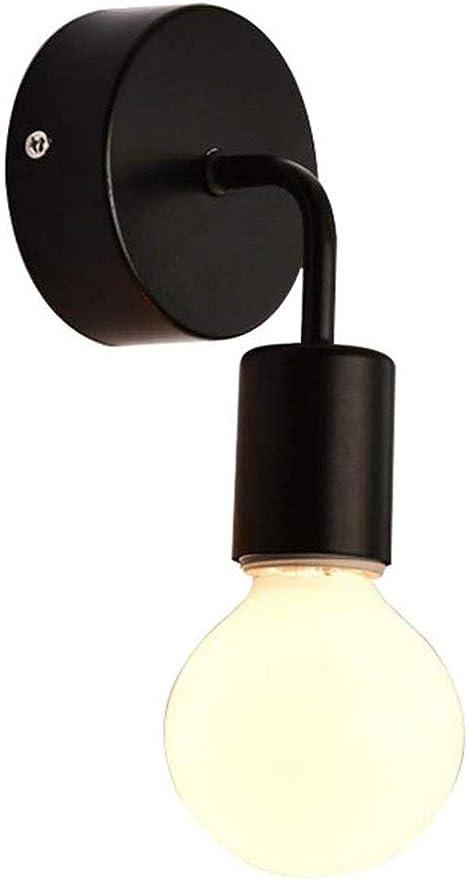 Décoratif Mural Noir Métal 2-brûleur e27 Retro Lampe Couloir Salon