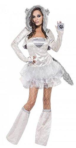 42cadfd23b69 Costume lupo sexy donna costume carnevale halloween cosplay Vestito corto  con tutù Bolerino maniche lunghe con ...