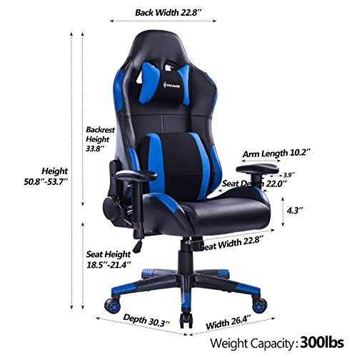 ... VON RACER Multifunctional Gaming Chair   Elegant Reclining Computer  Desk Chair With Soft Memory Foam Seat ...