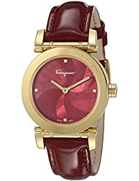 Women's 'LADY' Quartz Stainless Steel and Leather Casual Watch, Color:Red (Model: FP1780016)