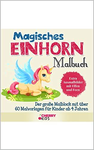Amazon Com Magisches Einhorn Malbuch Der Große Malblock