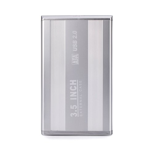 HDE 3.5 Inch SATA Hard Drive Case USB 2.0 Powered External Aluminum Enclosure Silver Finish by HDE (Image #4)