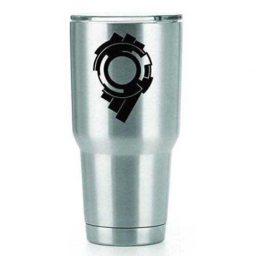 Public Security Section 9 Ghost in the Shell Vinyl Decals Stickers ( 2 Pack!!! ) | Yeti Tumbler Cup Ozark Trail RTIC Orca | Decals Only! Cup not Included! | 2 - 3 X 2 inch Black Decals | KCD1102