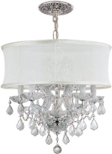 - Crystorama 4415-CH-SMW-CL-S, Brentwood Swarovski Crystal Chandelier Lighting, 7LT, 420 Watts, Chrome