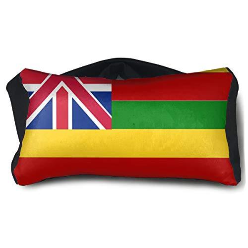 Eye Pillow Hawaiian Flag Custom Personalized Mens Portable Blindfold Sleeping Eye Bag Mask]()