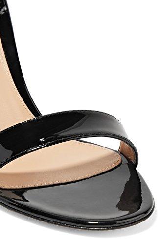 Nero Tacco Delle Punta 10cm Bowtie Alto Slingback Tacco Dell'ufficio Eldof A Sandali Scarpe Punta Donne Decorazione gfZdw