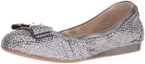 Cole Glitter Bow Women's Gunmetal Ballet Silver Flats Haan Tali UqrxPpU