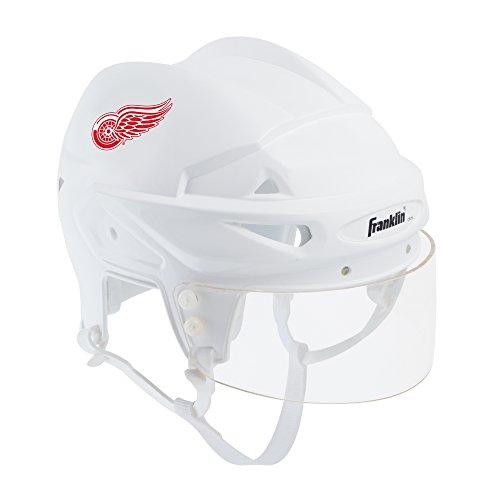Franklin Sports Detroit Red Wings Mini Player Helmet - White Helmet w/Player Number Stickers - Great for Autographs - NHL Official Licensed Product