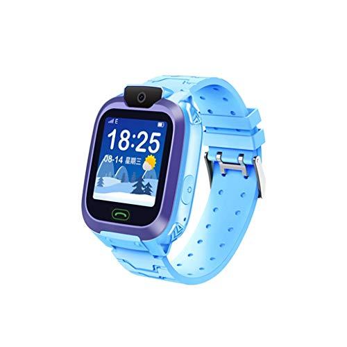 Smart Watch for Kids Girls Boys,Kids LBS Locator Tracker Smart Watch Telephone SOS Anti-Lost Waterproof Watch (Blue)