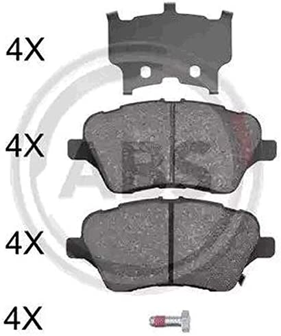 Kit 4 pastiglie freno anteriori ECP Abs Kit 2 dischi freno anteriori Ecommerceparts 9145375031936