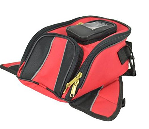 Vance Leather VS401 Magnetic Tank Bag, Red (Tank Bags Daytona)