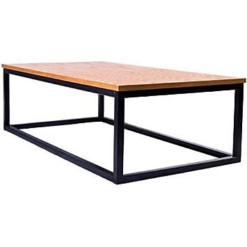 gnrique facto table basse style industriel en mtal poxy noir plateau placage bois chene