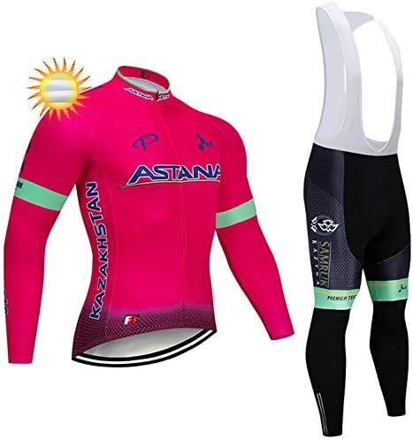 XIAKE Magliette Ciclismo Uomo MTB Maglia Bici Manica Lunga Camicia Ciclista