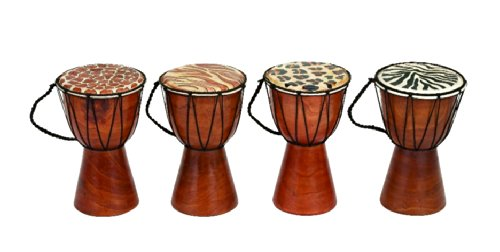 Deco 79 Varnished Wood Drum, 4 ()
