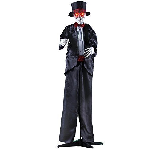 Collections Etc Scary Animated Wedding Skeleton Halloween Decoration, 68