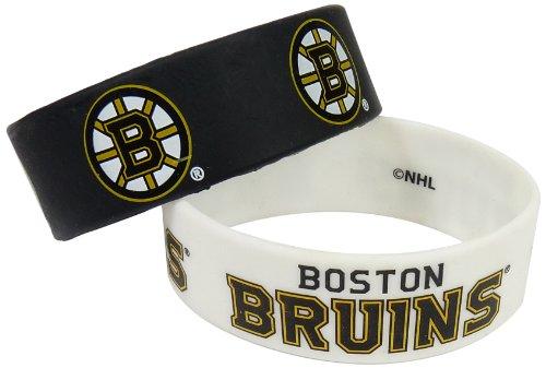 NHL Boston Bruins Silicone Rubber Bracelet, 2-Pack