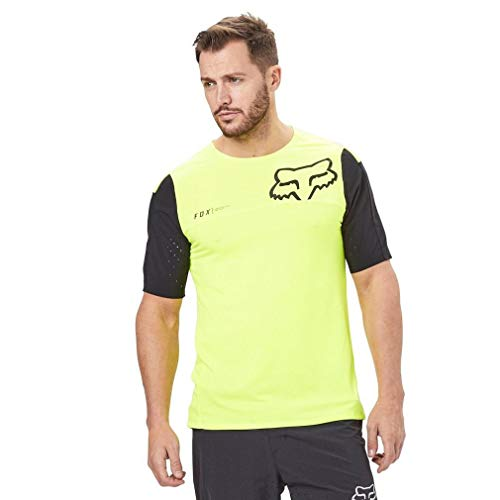 Fox Racing Attack Pro Short-Sleeve Jersey - Men's Yellow/Black, M