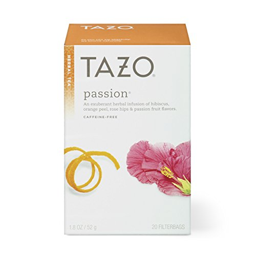 - Tazo Passion Herbal Tea Filterbags, 20 Count (Pack of 6)
