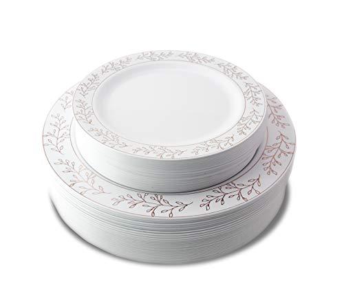 Premium 60 Pack Combo Disposable Plastic Plates | Includes 30 10.25