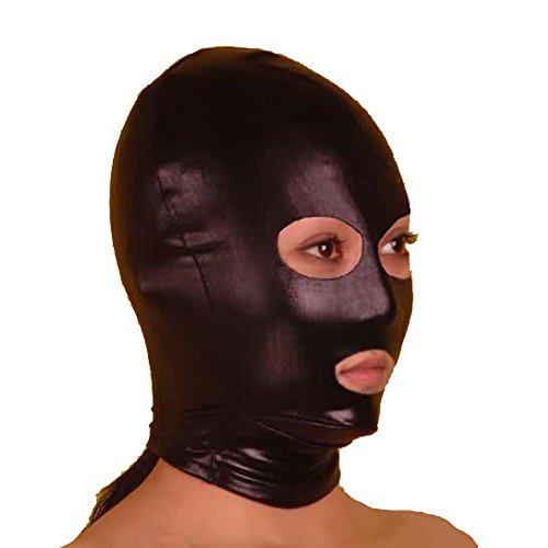 Fashion Queen Women's Catwoman Style Mask Fetish Accessory Hood Open Eyes Mouth (One Size, Black)