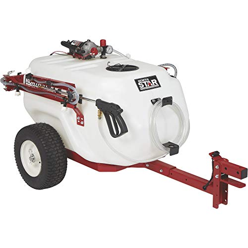 - NorthStar Tow-Behind Trailer Boom Broadcast and Spot Sprayer - 61-Gallon Capacity, 5.5 GPM, 12V DC