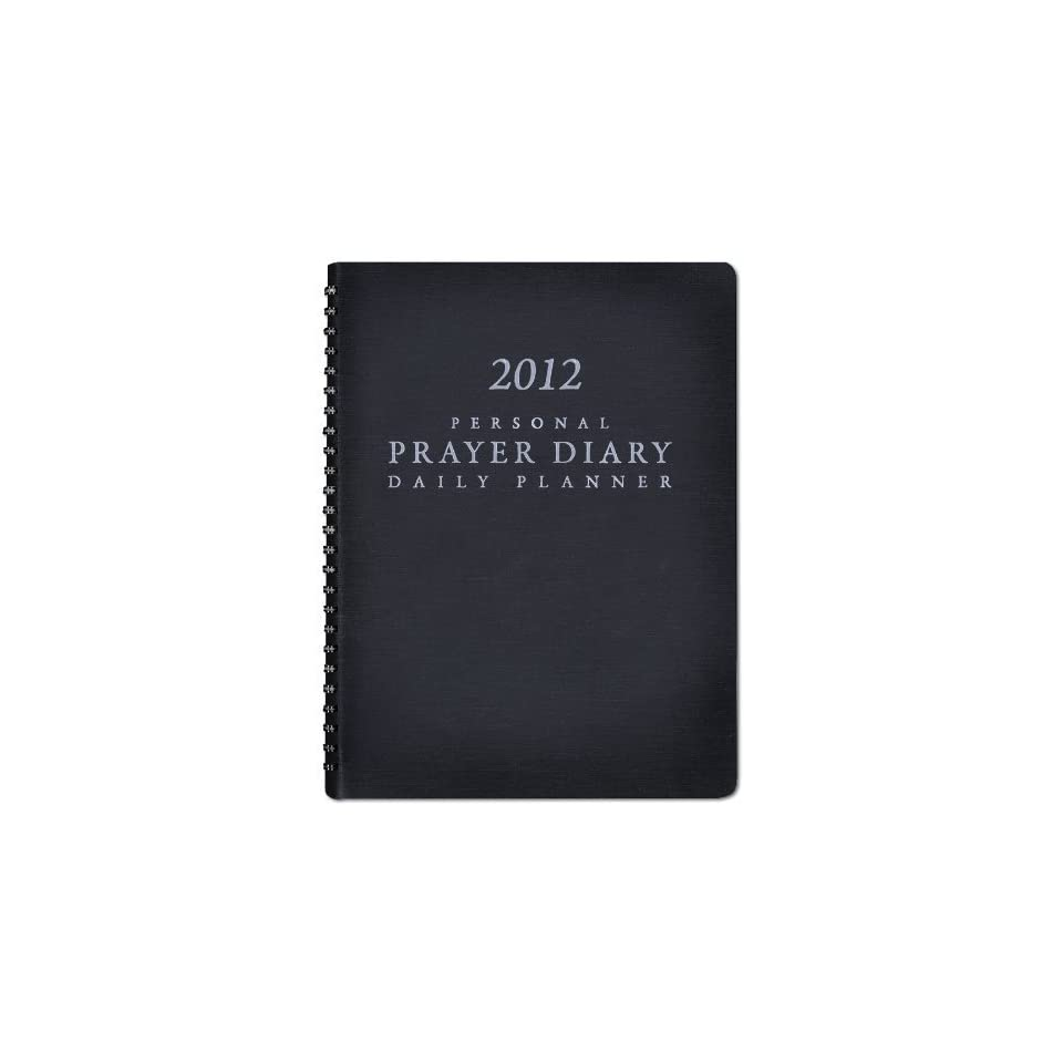 2012 Personal Prayer Diary and Daily Planner (Black