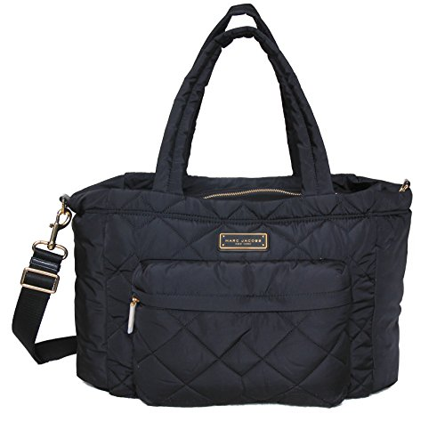 Marc by Marc Jacobs Crosby Nylon Quilted Diaper Bag (Black)