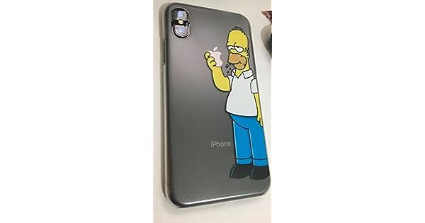63bbac7a7c3 StormSell Funda Homero Simpson para Proteger tu iPhone Color Transparente  Mate rigida (iPhone X): Amazon.com.mx: Electrónicos