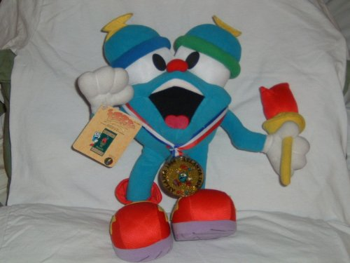 Izzy 1996 Olympic Mascot Stuffed Toy with Torch and Gold Medal