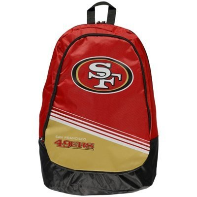 San Francisco 49ers Official NFL 50cm x 30cm x 10cm Stripe Core Backpack by Forever Collectibles