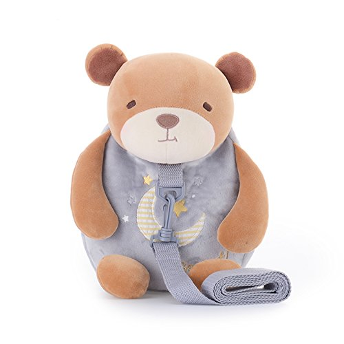 Me Too Plush Backpack Baby Leash Shoulder Bags Kids  Grey Bear